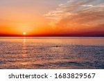 Sunrise Over Mediterranean Sea...