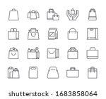 set of paper bag related vector ... | Shutterstock .eps vector #1683858064