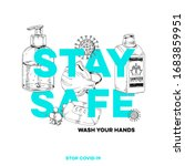 stay home  stay safe  best... | Shutterstock .eps vector #1683859951