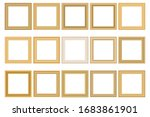 big set of squared vintage gold ... | Shutterstock .eps vector #1683861901