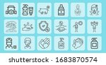 outline line icon set on theme... | Shutterstock .eps vector #1683870574