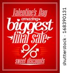 valentine s day amazing sale ... | Shutterstock .eps vector #168390131