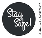 stay safe logo. stay safe from... | Shutterstock .eps vector #1683922657