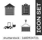 set container on crane  closed... | Shutterstock .eps vector #1683924721