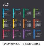 2021 calendar   illustration.... | Shutterstock .eps vector #1683938851
