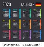 2020 calendar   illustration.... | Shutterstock .eps vector #1683938854