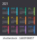2021 calendar   illustration.... | Shutterstock .eps vector #1683938857