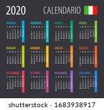 2020 calendar   illustration.... | Shutterstock .eps vector #1683938917
