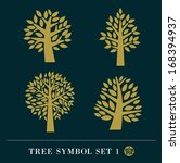 set of gold tree symbol... | Shutterstock .eps vector #168394937