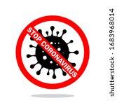stop infection   coronavirus  ... | Shutterstock .eps vector #1683968014