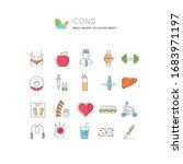 set vector line icons in flat...   Shutterstock .eps vector #1683971197