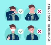 how to cough and sneeze and not ... | Shutterstock .eps vector #1683977851