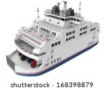 3d rendering of a ferry boat