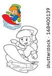 cartoon child   activity  ... | Shutterstock . vector #168400139