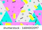pink cartoon texture. navy dot... | Shutterstock .eps vector #1684002097