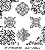 victorian coners on white | Shutterstock .eps vector #168400829