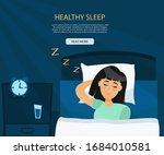 healthy sleep melatonin concept.... | Shutterstock .eps vector #1684010581