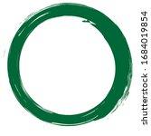 circle brush stroke vector... | Shutterstock .eps vector #1684019854