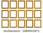 big set of squared vintage gold ... | Shutterstock .eps vector #1684041871
