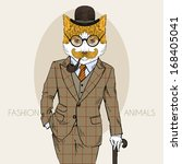 animal,art,body,bowler,boy,british,cat,coat,colorful,dress,dressed,elegant,english,gentleman,glasses