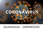 molecules of coronavirus under... | Shutterstock . vector #1684065244