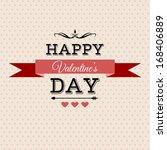 valentine's day lettering... | Shutterstock .eps vector #168406889