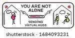 sending virtual hug coronavirus ... | Shutterstock .eps vector #1684093231