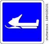 Snowmobiles Allowed Blue Sign...