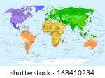 world map | Shutterstock .eps vector #168410234