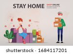 customer shopping online during ... | Shutterstock .eps vector #1684117201
