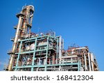 overall view of an oil and gas... | Shutterstock . vector #168412304