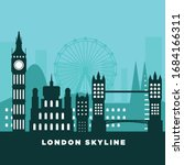 london skyline silhouette.... | Shutterstock .eps vector #1684166311