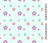 seamless cute flower pattern...   Shutterstock .eps vector #1684169341