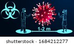 coronavirus. social distancing... | Shutterstock .eps vector #1684212277
