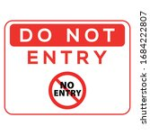 no entry sign. red prohibition...