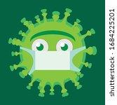 scared character of coronavirus ... | Shutterstock .eps vector #1684225201