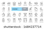 hygiene icons. set of 29 images ... | Shutterstock .eps vector #1684237714
