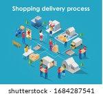 flat isometric concept design... | Shutterstock .eps vector #1684287541