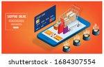 shopping online  e commerce... | Shutterstock .eps vector #1684307554