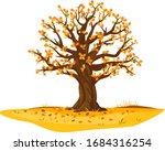one wide massive old oak tree...   Shutterstock .eps vector #1684316254