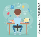 education online student boy...   Shutterstock .eps vector #1684318867