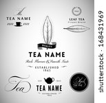 tea label design elements | Shutterstock .eps vector #168431969
