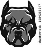 head of american bully... | Shutterstock .eps vector #1684355347