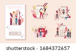 beauty and fashion blogger ... | Shutterstock .eps vector #1684372657