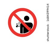 do not spitting in public sign. ...