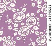 seamless monochrome pattern...   Shutterstock .eps vector #168440231