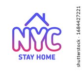 stay home new york city icon ... | Shutterstock .eps vector #1684427221