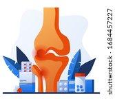 knee bone pain. human anatomy...   Shutterstock .eps vector #1684457227