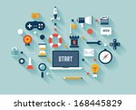 flat design vector illustration ... | Shutterstock .eps vector #168445829