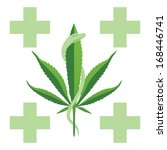 medical marijuana with a green... | Shutterstock .eps vector #168446741